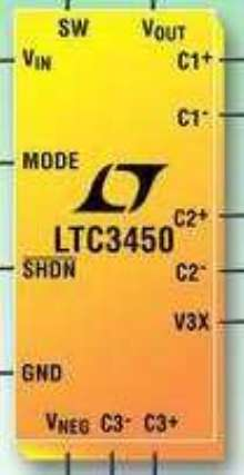 Triple Output Power Supply powers 2-5 in. TFT LCD panels.