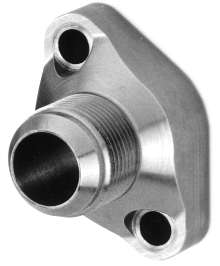 Flange Adapters provide leak-resistant connection.
