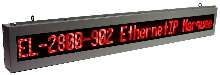 LED Alpha-Numeric Marquee has Ethernet interface.