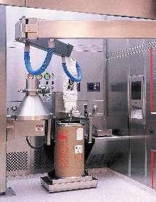 Vacuum Tube Lifter handles fiber drums in clean rooms.
