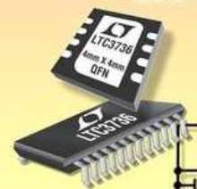 DC/DC Controller drives two external MOSFETs synchronously.