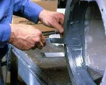 Metal-Filled Epoxies repair industrial machinery.