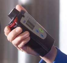 Portable Monitor detects combustible gas and oxygen.