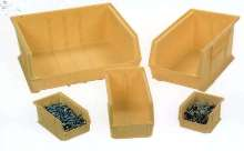 Plastic Containers provide small parts storage.