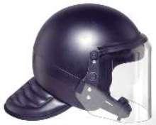 Helmet meets NIJ 0104.02 standard.
