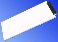 Backlight LEDs feature reflector diffuser technology.