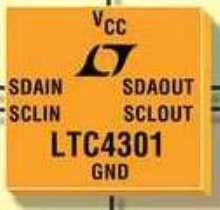 I2C Buffer translates backplane and card logic levels.