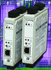Ethernet DC Input Modules suit remote I/O functions.
