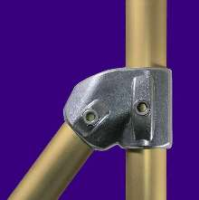 Aluminum Fittings help construct stair rails.