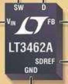 Inverting DC/DC Converter has onboard Schottky diode.