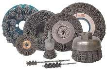 Wheel and Disc Brushes utilize abrasive nylon.