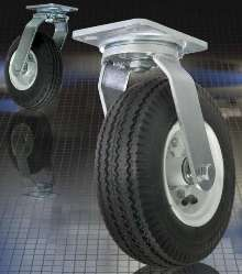 Pneumatic-Tired Casters cushion loads over paved surfaces.