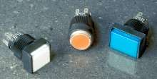 Pushbutton Switches are splash-proof and dust/oil-tight.
