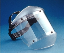 Faceshield with Chin Protector reduces overhead glare.