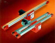 Round Belt Conveyors transfer small parts.