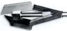 Impeller mixes materials with high shear sensitivity.