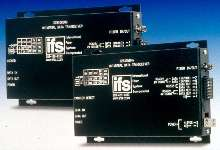 Data Transceiver transmits serial data over optical fiber.