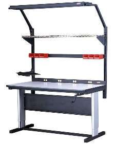 WorkTable adjusts in height from 30-42 in.