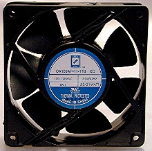 AC Fans deliver 130 cfm airflow from 120 mm housing.