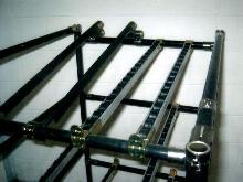 Minature Roller Conveyor suits light-duty parts handling.