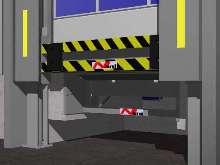 Crash Guard provides loading dock safety.