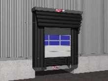 Dock Shelter eliminates 90% of air draft.