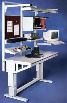 Workbench adjusts in height from 25½ to 41½ in.