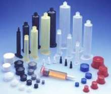 Polypropylene Syringes apply small dots, beads, and potting.