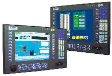 Flat Panel Touch Monitors feature integrated keyboards.