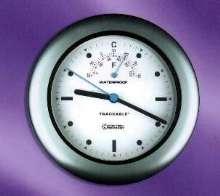 Indoor/Outdoor Clock is waterproof and dustproof.