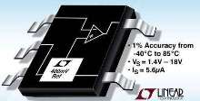 Voltage Reference draws only 5.6 µA.