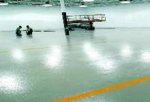 Epoxy Coating provides protective, tile-like finish.
