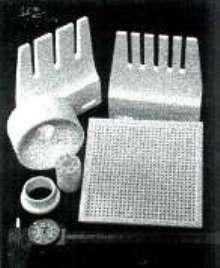 Silica Matrix Composite insulates hot press applications.