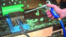 Air Gun cleans machinery and worksurfaces.