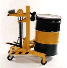 Dolly weighs drums while transporting them.