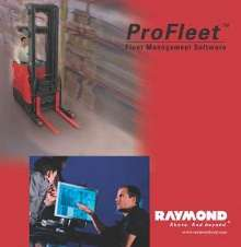 Fleet Management Software tracks warehouse lift trucks.