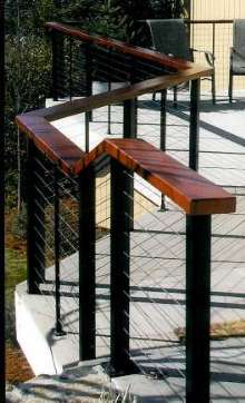 Railing System replaces view-impeding pickets.