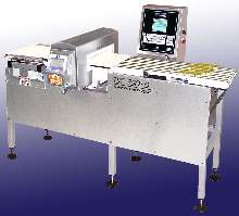 Quad-Lane Checkweighers display multiple product weights.