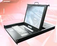 Rack-Mount Console Drawer incorporates 17 in. TFT monitor.