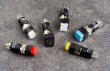 Subminiature Pushbutton Switches mount on pc board.