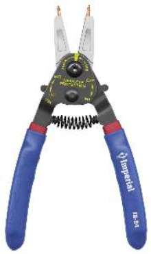 Pliers handle internal and external retaining rings.
