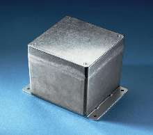 Die-Cast Aluminum Boxes feature external flanges.