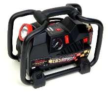 Cordless Air Compressor produces 0.70 cfm at 32 psi.