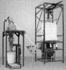 Modular System unloads bulk bags and fills drums.