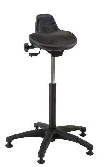 Sit-Stand Stools help eliminate worker leg strain.