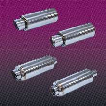 Exhaust Mufflers feature free flow design.