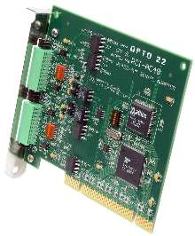 Adapter Card enables communication with serial I/O.