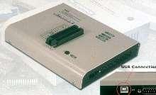 Device Programmer communicates via parallel or USB port.