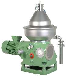 Centrifuge handles small-capacity processing.