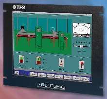 Rack Mount Flat Panel LCD has 19 in. viewing area.